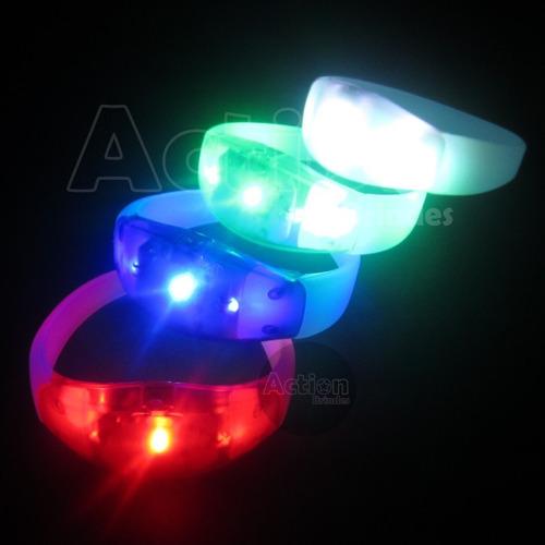 pulseira de led funciona com música e som - 10 un