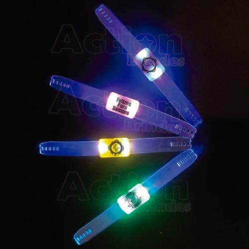 pulseira de led para festas personalizada - kit 20 un