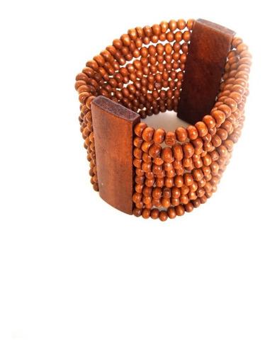 pulseira de madeira colorida ref: 9815