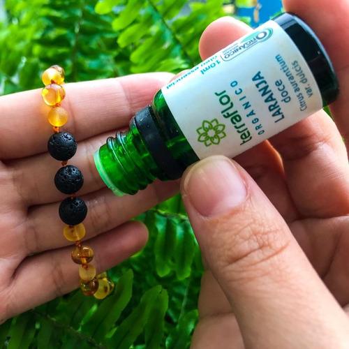 pulseira de âmbar aromoterapia cor mix mel polido e bruto