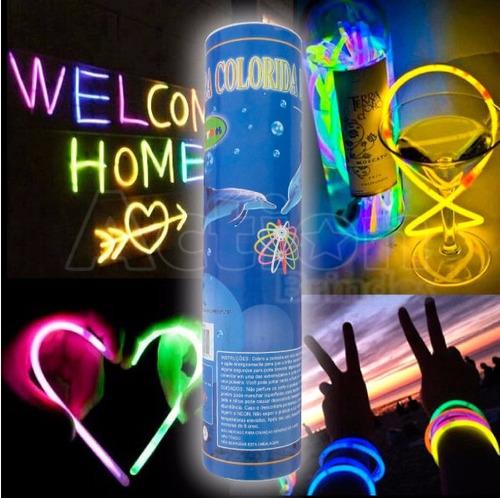 pulseira de neon alto brilho - kit 100 unidades