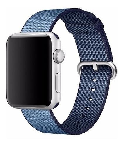 pulseira de nylon tecido p/ apple watch 38/40mm azul marinho