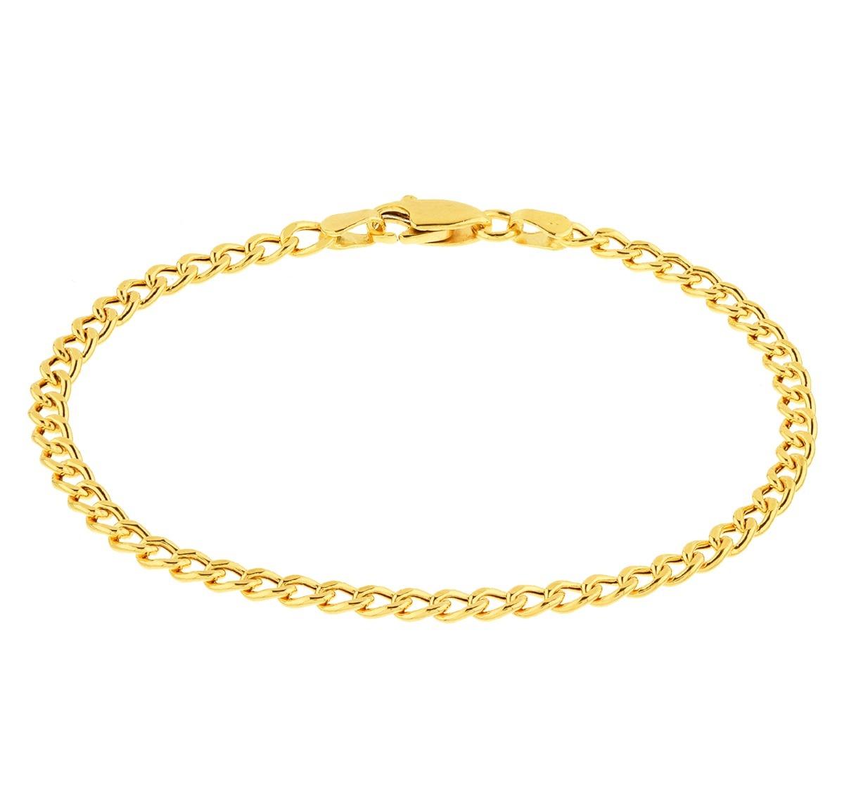 ccb2deba620 pulseira de ouro 18k infantil masculina - malha grumet. Carregando zoom.