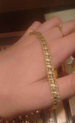 pulseira de ouro 18k jr joalheiro