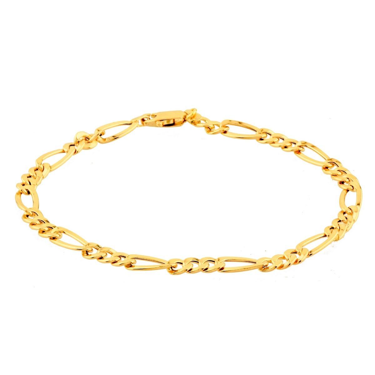 a001f8e2a04 pulseira de ouro 18k masculina elos 3x1 malha grumet. Carregando zoom.