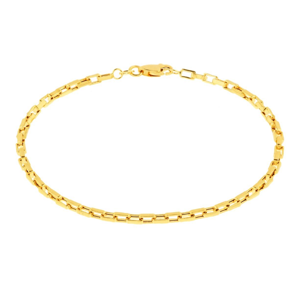 65b362f31f1 pulseira de ouro 18k - masculina - malha cartier. Carregando zoom.