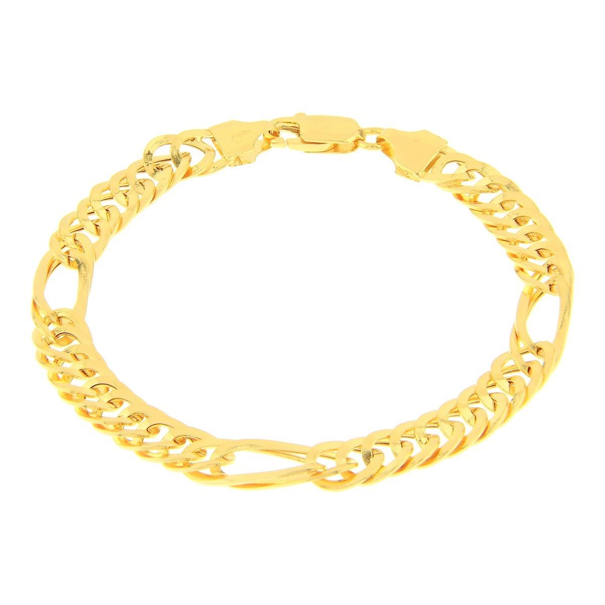 2b3c808292b pulseira de ouro 18k masculina malha grumet grossa. Carregando zoom.