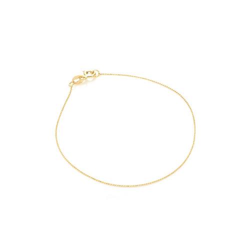 pulseira de ouro 18k palmeira com 18cm pu03424
