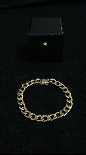 pulseira de ouro 18k/750, groumet, 10.5g, 20cm