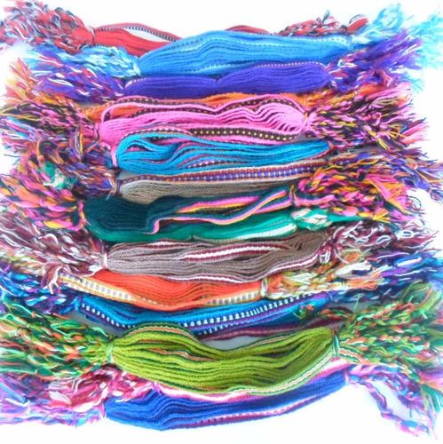 pulseira de pano colorida  pacote com 30 dúzias - jamaica