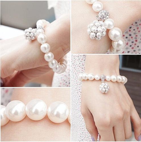 pulseira de perolas feminina promoção frete barato bracelete