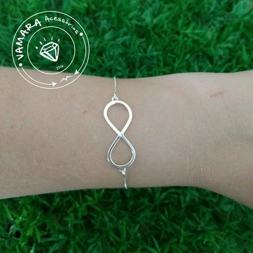 pulseira de prata 925 - infinito