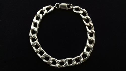 pulseira de prata 925 masculina grumet ( 21 cm 14 gr )