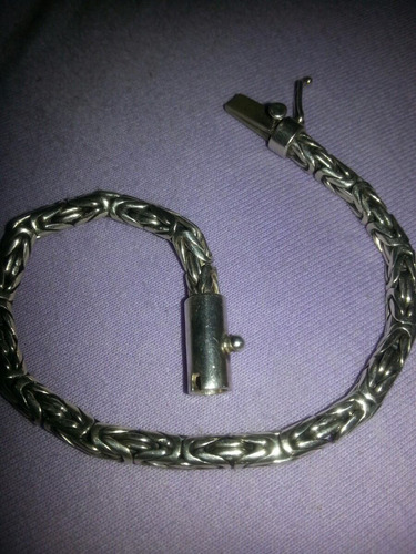 pulseira de prata bali 21cm x 0.5mm