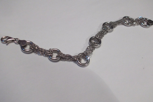 pulseira de prata elos redondos