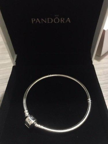 pulseira de prata esterlina 925 - tam 20cm pandora c/ caixa