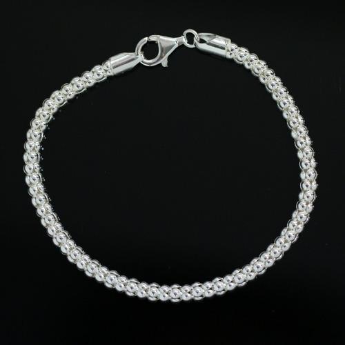 pulseira de prata feminina corda cordão prata de lei luxo