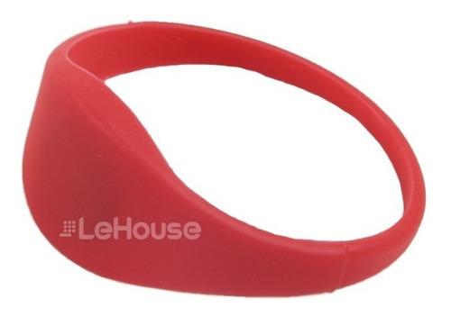 pulseira de proximidade 13,56 mhz vermelha (m) - lehouse