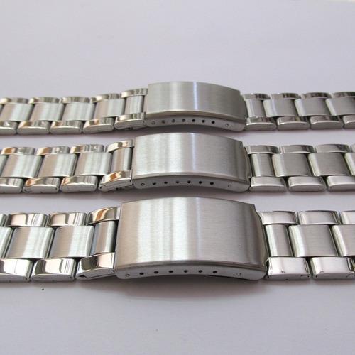 Pulseira De Relógio Aço Modelo De Terminal Reto,18-20-22-26 - R  35 ... c2e09ac908
