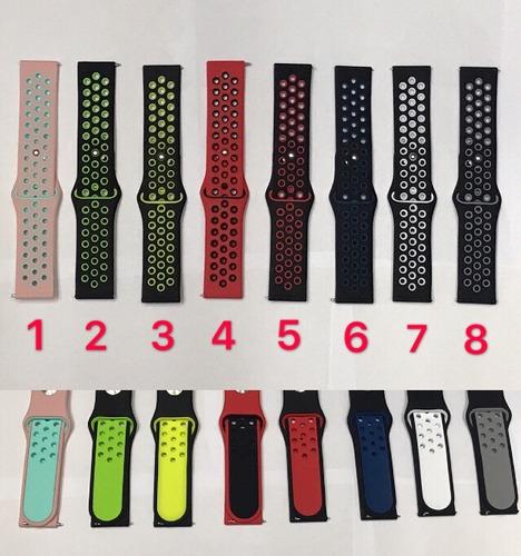 pulseira de silicone esporte samsung gear s3 estilo nike