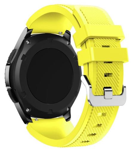 pulseira de silicone p/ samsung galaxy gear s3 - amarela