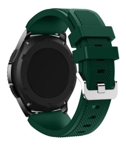 pulseira de silicone p/ samsung galaxy gear s3 - verde