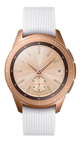 pulseira de silicone p/ samsung galaxy watch 42mm - branca