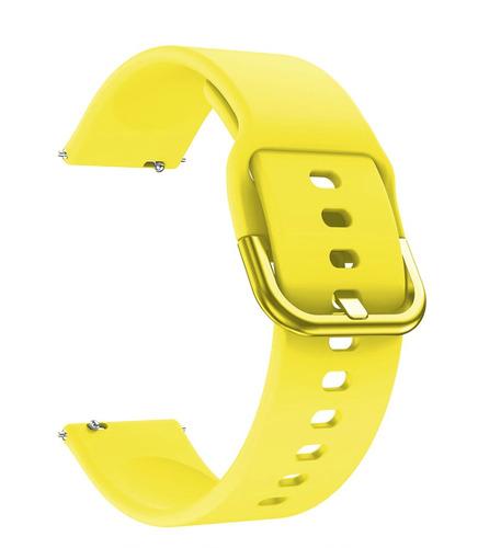 pulseira de silicone p/ samsung galaxy watch active -amarela
