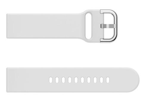 pulseira de silicone p/ samsung galaxy watch active - branca