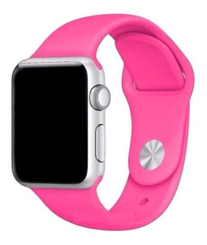 pulseira de silicone para apple watch 38/40mm - pink