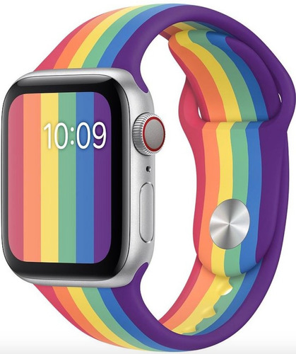 pulseira de silicone para apple watch 38/40mm - pride