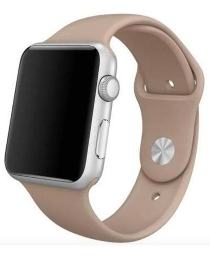 pulseira de silicone para apple watch 38/40mm - walnut