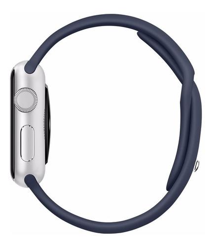 pulseira de silicone para apple watch 42/44mm - azul marinho