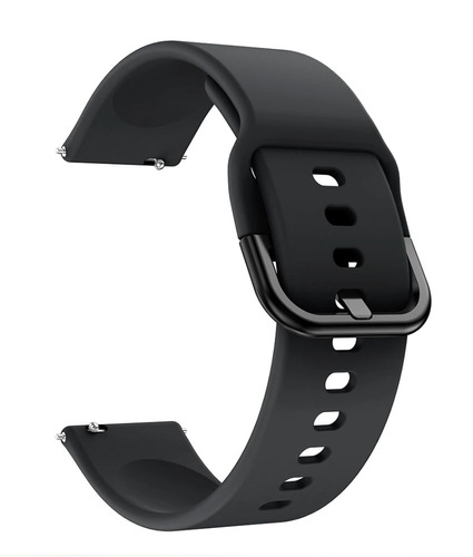 pulseira de silicone para samsung galaxy watch active -preta