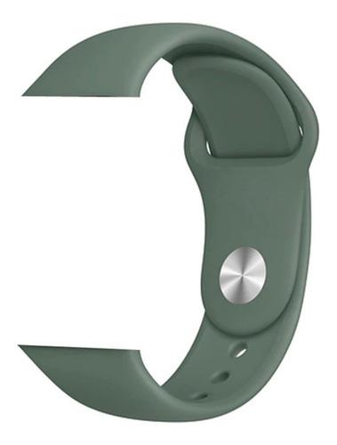 pulseira de silicone sport p/ apple watch 42/44mm pine green