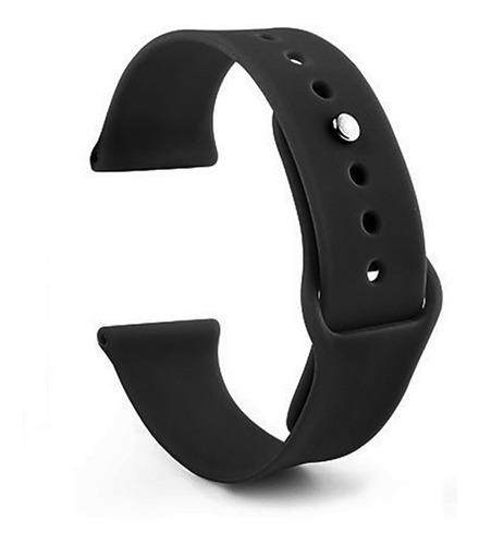 pulseira de silicone sport p/ apple watch 42/44mm - preta