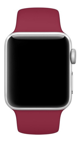 pulseira de silicone sport p/ apple watch 42/44mm - rose red