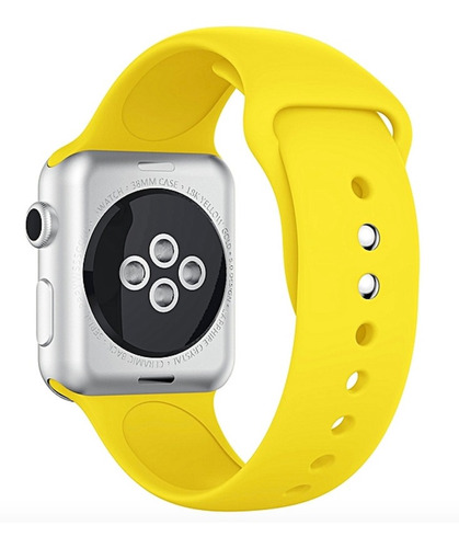 pulseira de silicone sport para apple watch 42/44mm - amarela / jetech