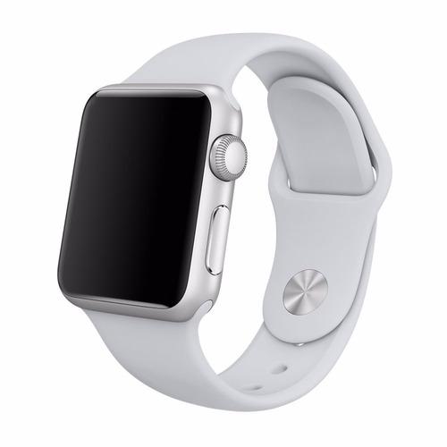 pulseira de silicone sport para apple watch 42/44mm - fog / jetech