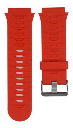 pulseira de silicone vermelho relógio garmin forerunner920xt