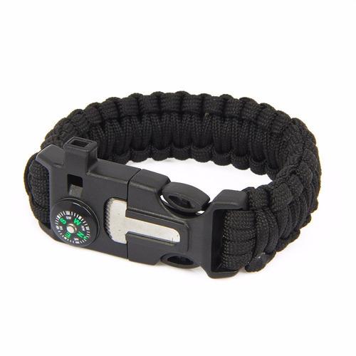 pulseira de sobrevivência, pederneira, paracord, bracelete