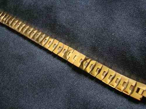 pulseira de tungstenio banhado a ouro 18k