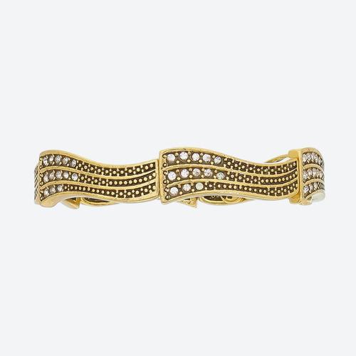 pulseira delicada amleto ouro estela geromini