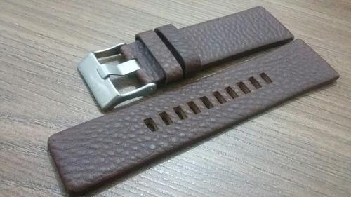 pulseira diesel 24mm 100% original couro legítimo