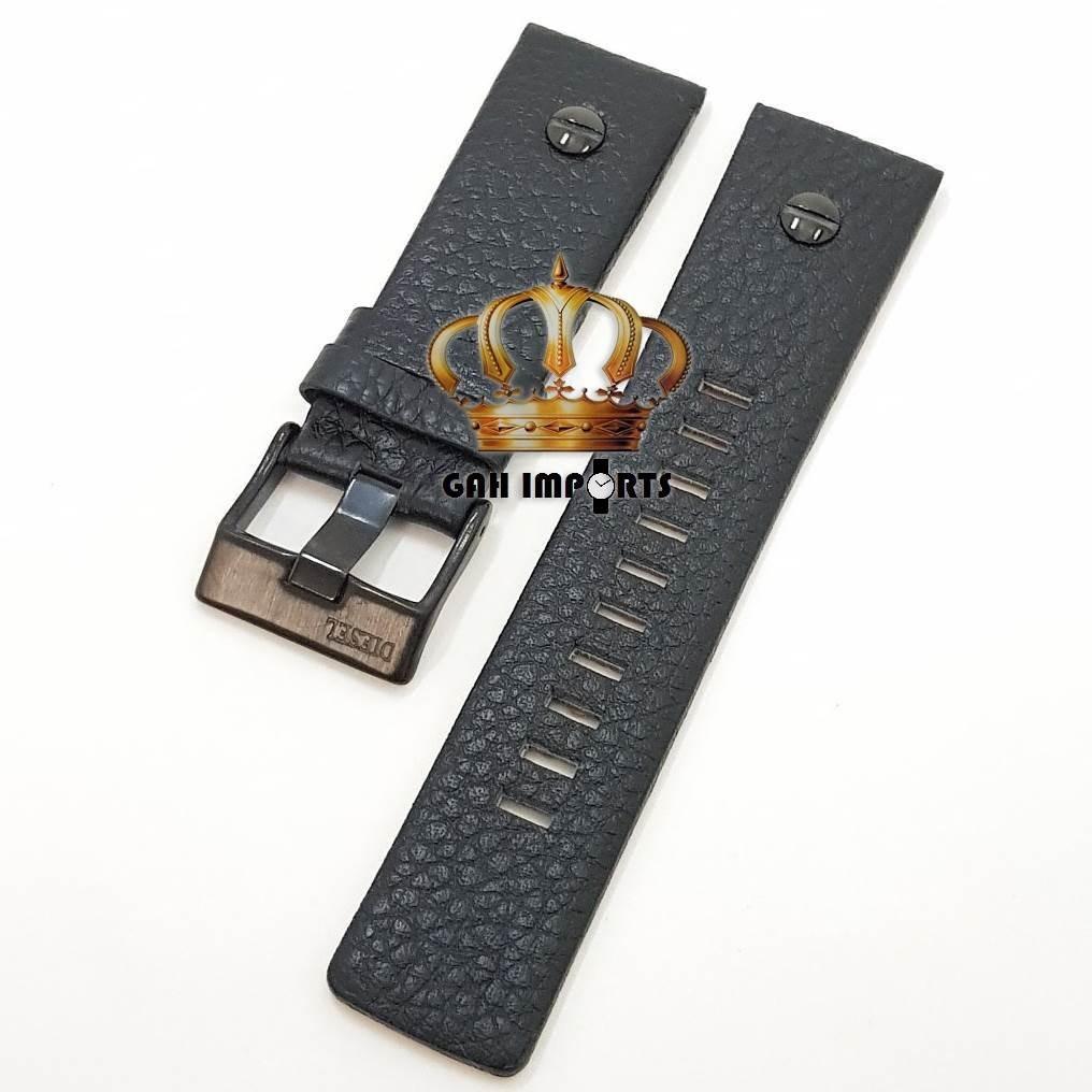 dc1e0fe7d41 pulseira diesel 24mm couro parafuso preto e fivela preto. Carregando zoom.