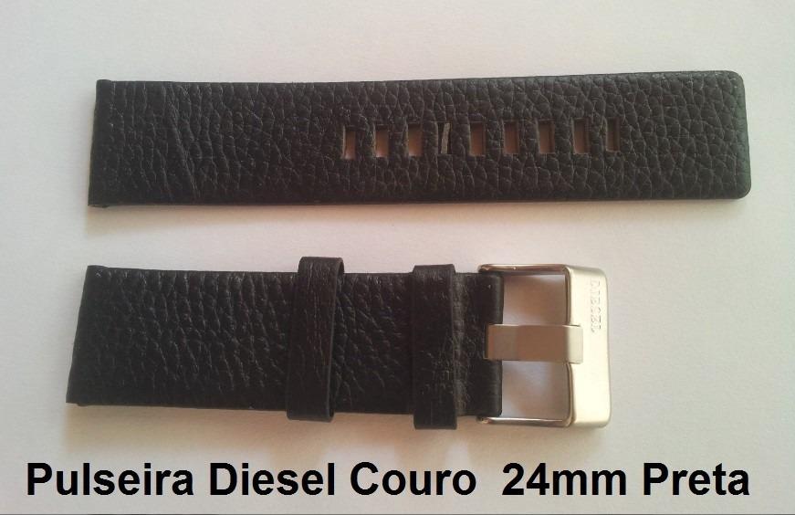 de049363dd2 pulseira diesel 24mm couro preta dz1659 dz1370 dz1467 dz1446. Carregando  zoom.