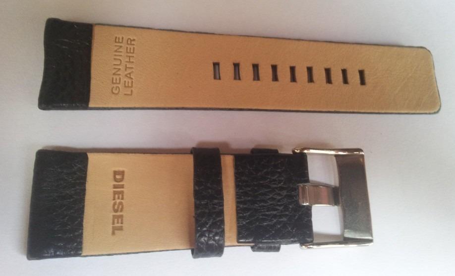 2b229f51514 pulseira diesel 28mm couro marrom gravada c  fivela prata. Carregando zoom.