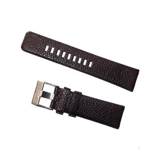 pulseira diesel couro marrom escuro premium 26mm