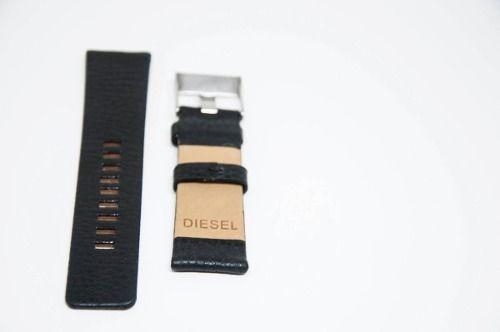 pulseira diesel couro premium 22mm similar