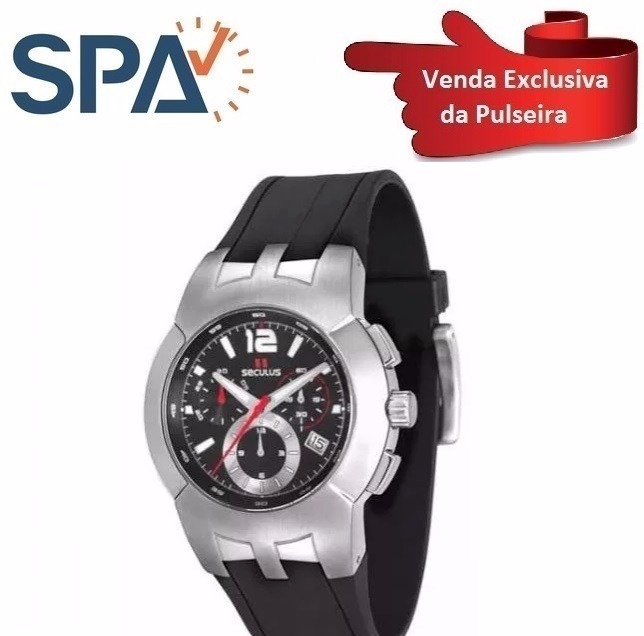 3972ffafe05 Pulseira Do Relógio Seculus 17087g0ssnup - R  169
